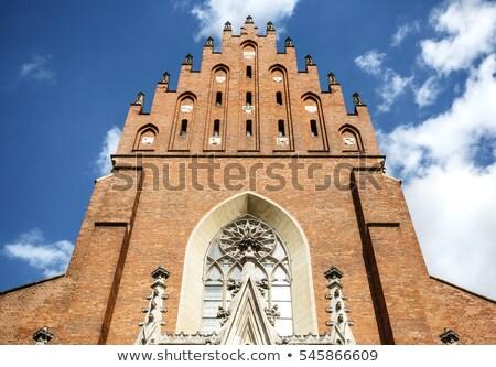 Bazilika szent Krakkó Lengyelország gótikus templom Stock fotó © borisb17