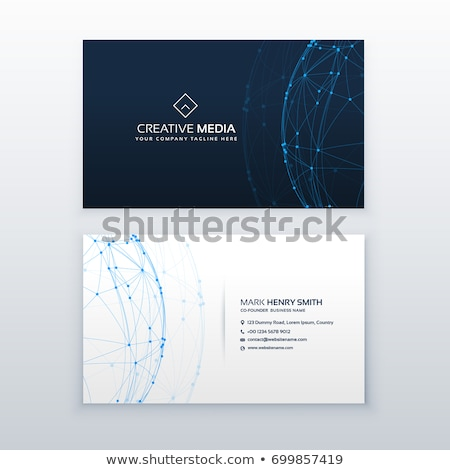 Stijlvol Blauw professionele visitekaartje ontwerpsjabloon business Stockfoto © SArts