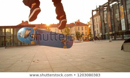 Ayaklar binicilik şehir sokak yaz doğa sporları Stok fotoğraf © dolgachov