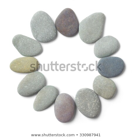 Circle of 12 pebbles Stock photo © fenton