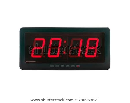 closeup of digital clock Stock photo © nasirkhan
