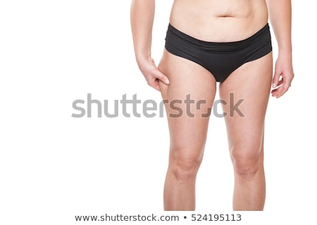 Beautiful fit woman in white sports bra and briefs Stock photo © darrinhenry