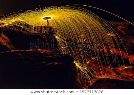 スパーク シャワー 明るい 白 火の粉 青 ストックフォト © nicemonkey