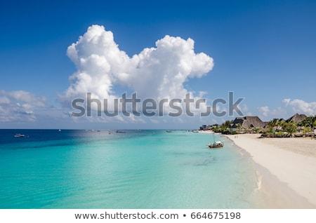 ボート ビーチ 空 夏 旅行 ロープ ストックフォト © gant