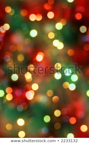 Red and green blurred background with gold stars twinkling  Stock photo © Balefire9