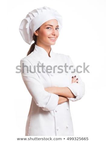женщину повар молодые женщины утверждение Сток-фото © piedmontphoto