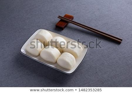 Kínai párolt kenyér színes állat vacsora Stock fotó © bbbar