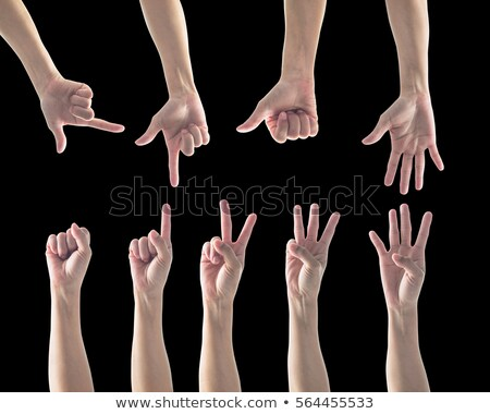 Black Hands Pantomime - Four Hand Stock photo © nyul