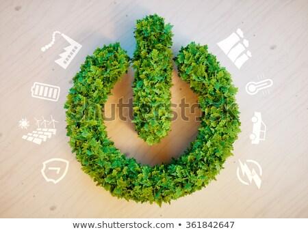 スイッチ ボタン 緑の草 自然 緑 エネルギー ストックフォト © Archipoch