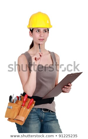 Tradeswoman completing an evaluation Stock photo © photography33