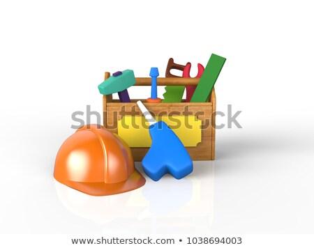 ninos · juguete · herramientas · plástico · blanco · naranja - foto stock © SamoPauser