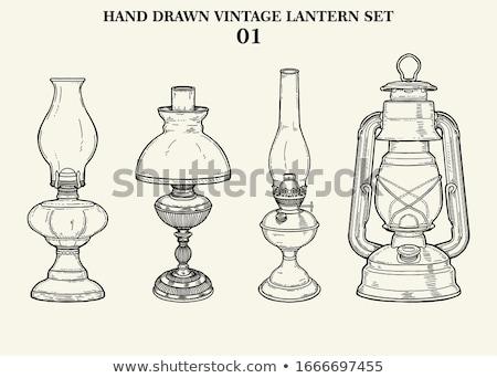 Old vintage oil lamp Stock photo © ivonnewierink