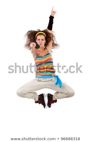 Mulher dançarina saltando mulher jovem dança Foto stock © feedough