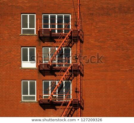 огня бежать внешний лестницы за пределами старые Сток-фото © ArenaCreative