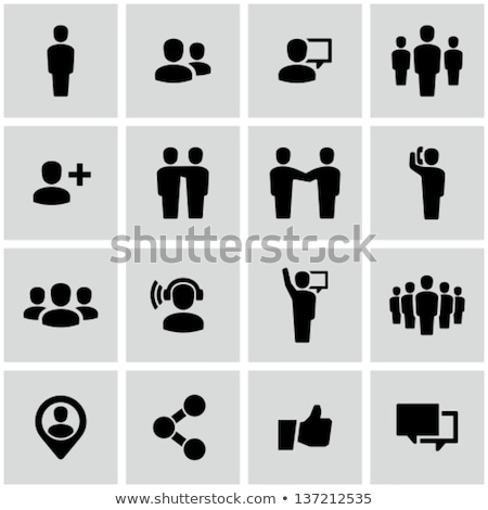 abstract people icon stock photo © pathakdesigner