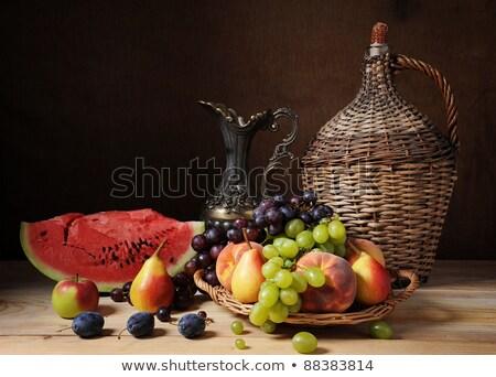 ストックフォト: フルーツ · 静物 · 水 · メロン · 表 · バナナ