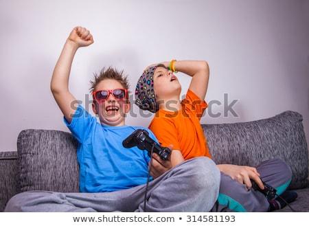 Stock fotó: Tinédzserek · játszik · számítógép · játékok · nő · férfi