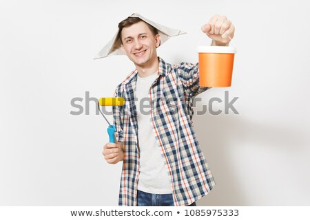 Man roller into paint Stock photo © photography33