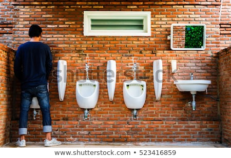 man pee on toilet Stock photo © jirkaejc