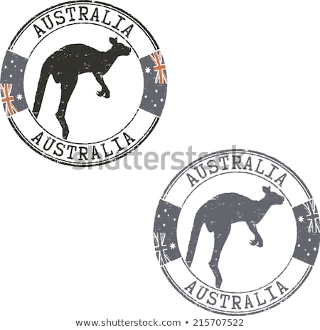 stamp with image of kangaroo Stock photo © perysty