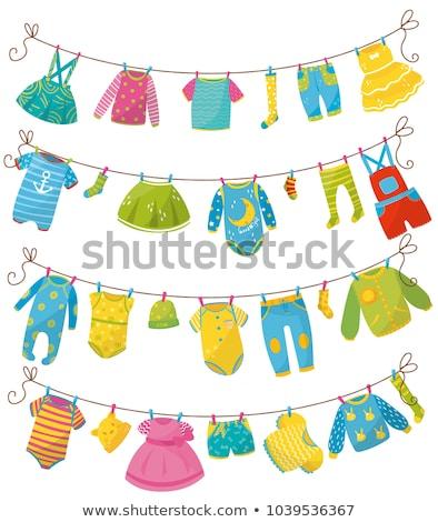 weinig · baby · foto · collage · pasgeboren · hand - stockfoto © ruslanomega