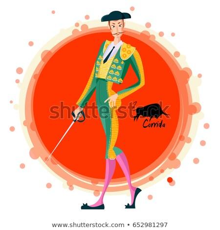 Férfi ruha torreádor jelmez háttér kalap Stock fotó © photography33