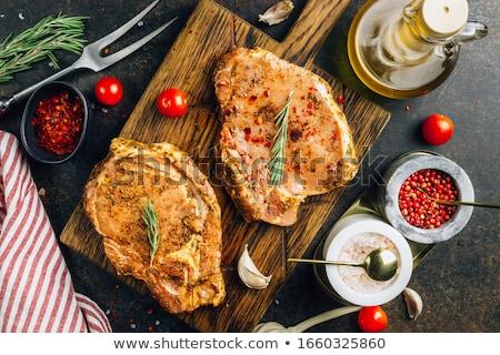 Marinated Raw Pork Stock photo © zhekos