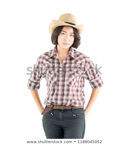 Cowgirl Standing Stock photo © cboswell