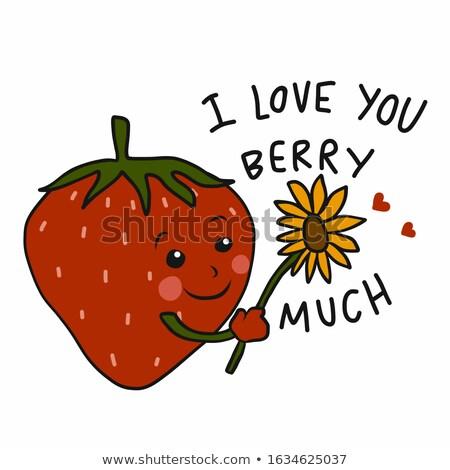 Amore frutti di bosco Berry cuore piatto Foto d'archivio © danielgilbey