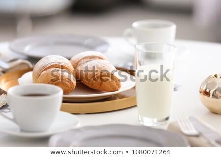 стекла молоко полумесяц простой завтрак Сток-фото © erierika