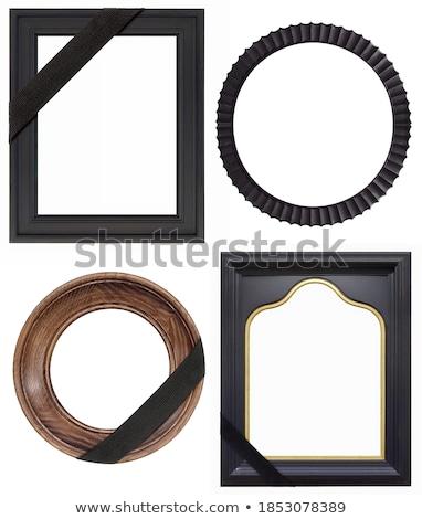 Zwarte frame rouw portret verticaal begrafenis Stockfoto © pzaxe
