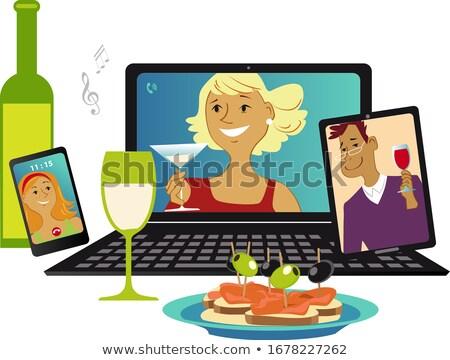 vrouw · werken · laptop · aantrekkelijke · vrouw · sinaasappelsap · hand - stockfoto © carlodapino