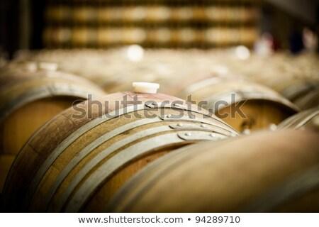 Photo stock: Plastique · vin · baril · bois · boire · raisins