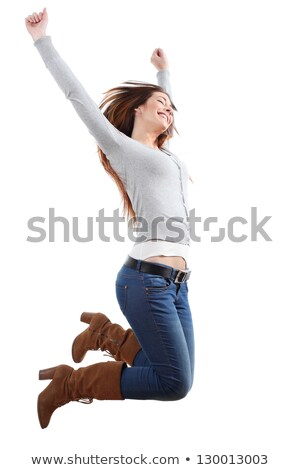 smiling armed girl in boots stock photo © acidgrey