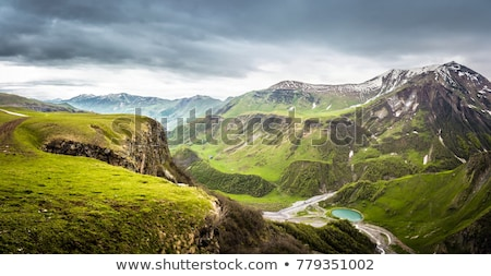 Mountain Ridge against a summer sky Stock photo © wildnerdpix