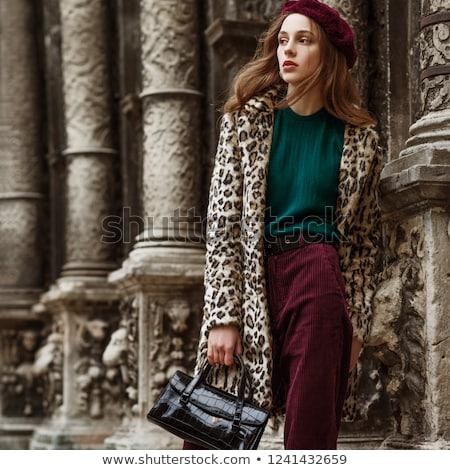 moda · retrato · meninas · calças · outono · casaco - foto stock © Andersonrise