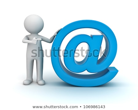 3d pessoas e-mail ícone branco negócio assinar Foto stock © Quka