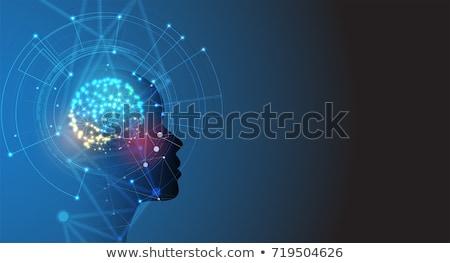 人間の脳 · 抽象的な · 医療 · 科学 · 脳 · と思います - ストックフォト © 4designersart