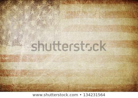 grunge · amerikan · bayrağı · mükemmel · metin · kâğıt · doku - stok fotoğraf © pashabo