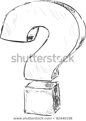 color question mark in drawing house stock photo © ansonstock