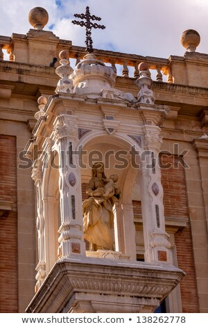 Mary Jesus Statue Outside Cathedral of Saint Mary of the See Sev Stock photo © billperry