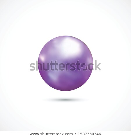 美しい 紫色 オーブ アイコン ガラス 黒 ストックフォト © Jugulator
