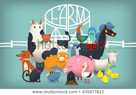 children on farm gate stock photo © sdenness