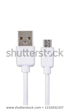 Micro usb cavo usato potere Foto d'archivio © Stocksnapper