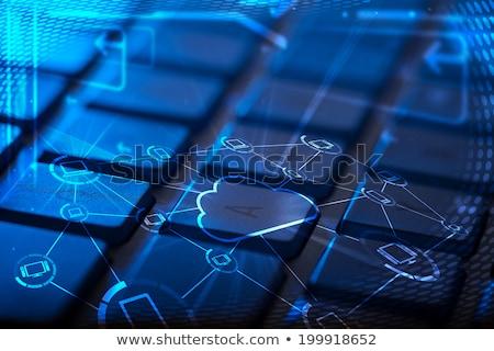 ストックフォト: キーボード · マルチメディア · アイコン · コンピュータのキーボード · 世界中
