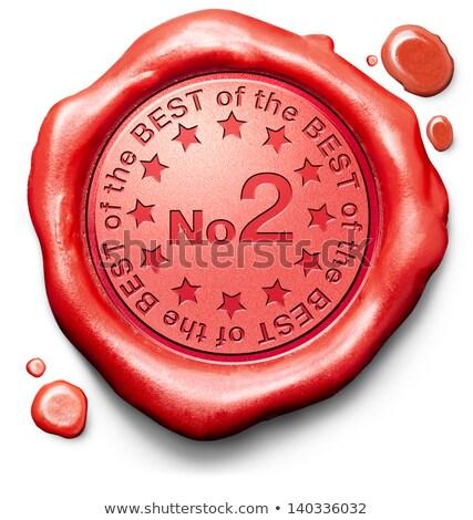 top 2 in charts   stamp on red wax seal stock photo © tashatuvango