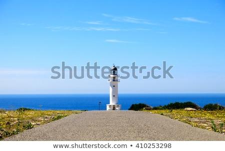 Barbaria cape Lighthouse in Formentera Balearic islands Stock photo © lunamarina