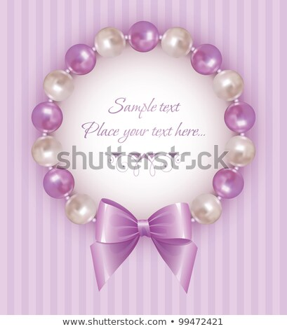 gentle background frame with a pearl ornament stock photo © yurkina
