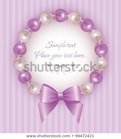нежный кадр Pearl орнамент иллюстрация дизайна Сток-фото © yurkina