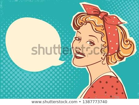 Jovem retro mulher mulher jovem vestir cigarro Foto stock © maros_b